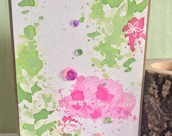 A note to say hello greetings card