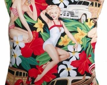 Pin Up Girl's Cushion