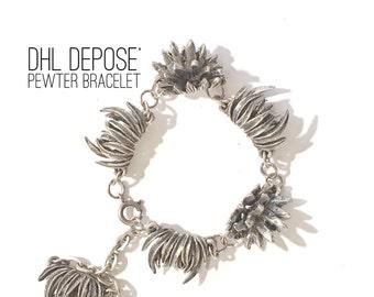 Vintage DHL Depose Pewter Bracelet