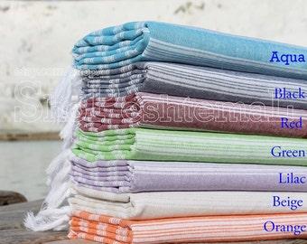 Set Of 2 Ottoman Turkish Beach Towel,Turkish Bath Towel,Turkish Towel,Beach Towel,Peshtemal Bath Towel
