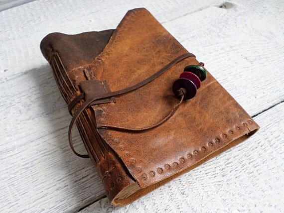 It was 59 usd , Handbound Diary brown goat leather stained paper Ready to Ship