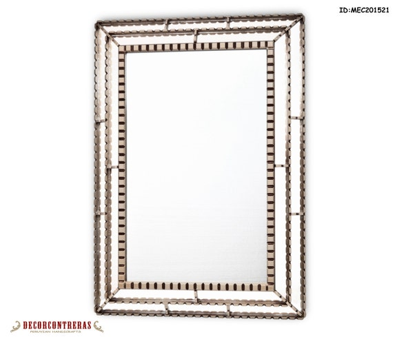 Unique silver decorative rectangular wall mirror by - Silver bathroom mirror rectangular ...