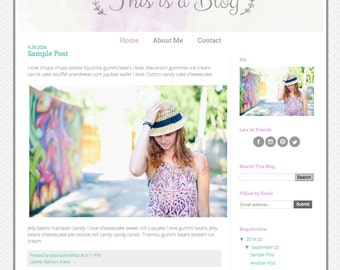 Responsive Premade Blogger Template - This is a Blog - INSTANT DOWNLOAD