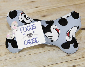 Mickey Mouse Dog Toy, Dog Squeaky Toy, Dog Toy, Dog Bone, Squeaky Toy, Great Gift, Focus for a Cause