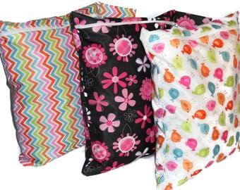 Wet Bag, Set of 3 pcs Wet bag for Cloth disper - Multi Chevnon, Black Pink Floral, And Bird Pattern