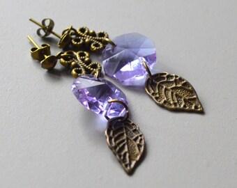 Pierced ears purple pearl bronze