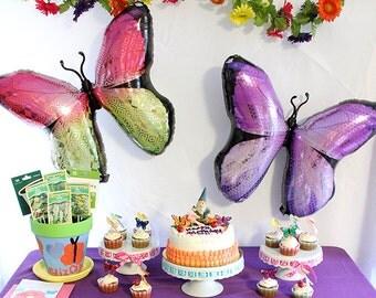 """SALE! Jumbo 31"""" Monarch Butterfly Mylar Foil Balloon - Pink"""