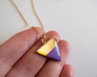 Violet Gold Adjustable Necklace - Modern Necklace - Gift For Her