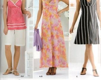 Simplicity Sewstylish Pattern 2657 DRESS or Tunic SHORTS Knit BOLERO Misses 16 18 20 22 24