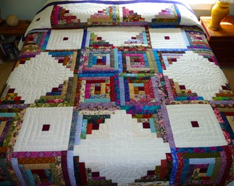 Amish Quilt Log Cabin in the Round