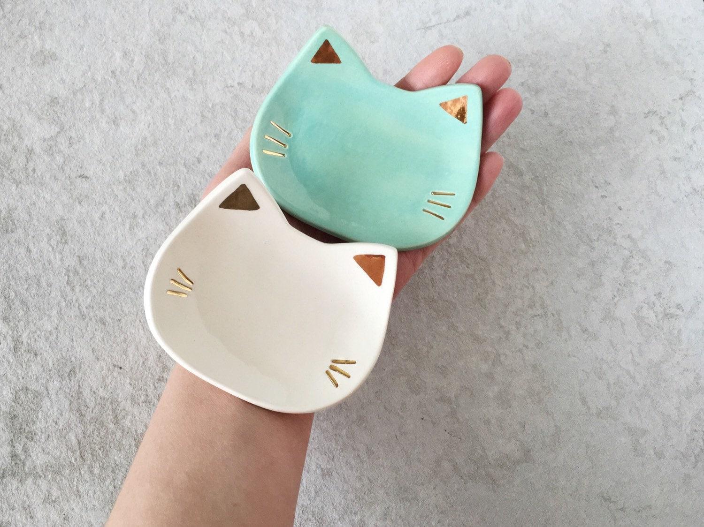 Cat Ring Dish - Mint