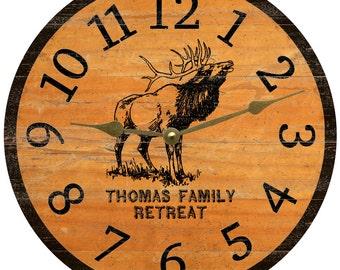 Elk Clock-Personalized Elk Clock