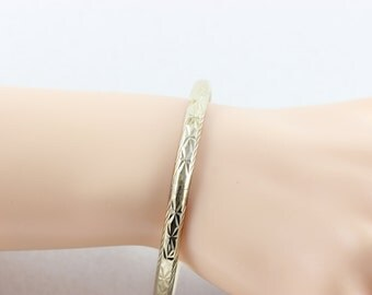 Sterling Silver Bangle Bracelet  Womens