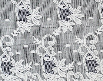 Off White Grace Lace Fabric With Double Floral Border