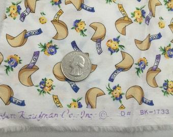 Fat quarter Robert Kauffman quilt fabric; Fortune cookies; Out of print