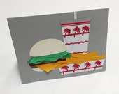 Hand-cut In-N-Out Greeting Card