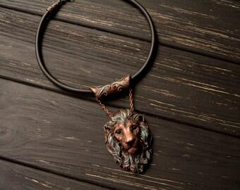Antique  Lion Necklace