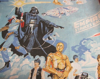 Vintage Star Wars Empire Strikes Back Twin Flat Sheet