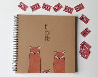 Norwegian Baby Book, Baby Memory Book Photo Album, Personalized Baby Books, Baby book