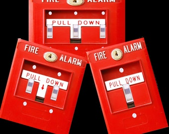 Fire Alarm light switch cover funny Man Cave, Bedroom room decor