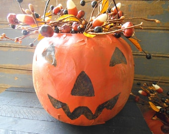 Pumpkin Arrangement, Primitive Pumpkin, Pumpkin, Fall Decor, Fall Pumpkin, Candy Corn, Primitive Halloween, Primitive Arrangement -P04