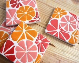 Cayman Citrus Ceramic Coasters
