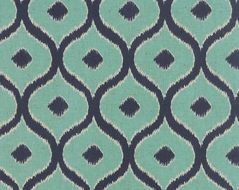 Moda Mixologie fabric by the yard - turquoise and blue fabric - #16114