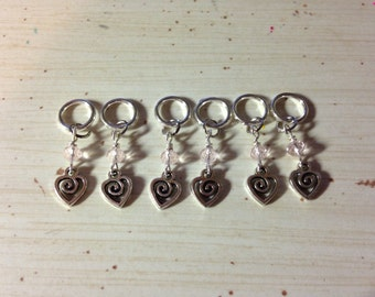 Hearts and Sparkles Knitting Stitch Markers