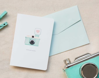 Love / Friendship Card  |  Vintage Camera