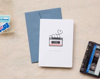 Love / Friendship Card     Mixed Tape