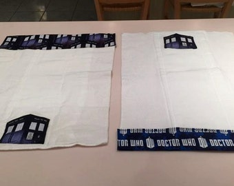 Doctor Who Burping Cloths/Cloth Diapers