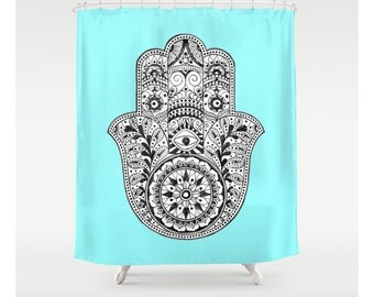 Aqua Octopus Shower Curtain Custom Made Shower Curtains