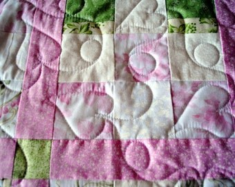 Scrappy Pink and Green 9 Patch