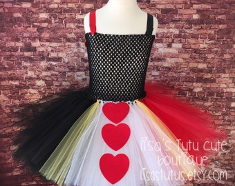 Queen of hearts tutu, queen of hearts tutu dress, queen of hearts dress, queen of hearts costume, alice in wonderland tutu, heart queen tutu