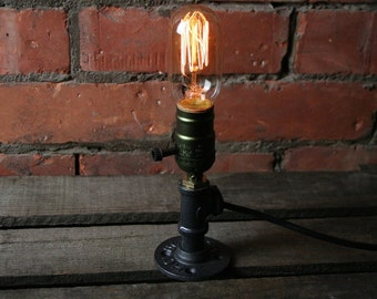 Edison Filament Bulb Desk Lamp Industrial Steampunk Retro Pipe Steel