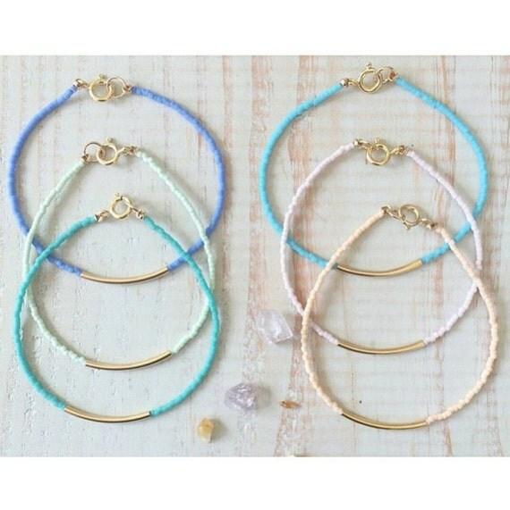 beaded bar bracelets