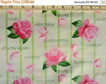 Extra 25% off 1/2 yard Say it with Roses by Ro Gregg for Northcott