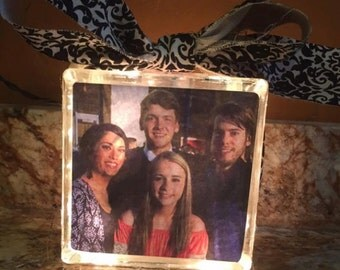 Photo Glass Block for Birthdays,Anniversay,Wedding Gift,Mother's Day