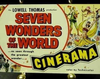 Seven Wonders of the World Advertising 1957 Movie Postcard
