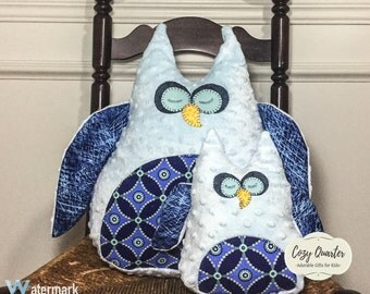 Stuffed Owl Pillows,nursery pillows,baby pillow,kids pillow,kids room,gift ideas,toy owls