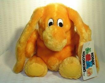 "Be my Friend  "" Snap "" A Kodak Kolorkins Yellow Orange Plush Stuffed Toy - New  - New - Never Played With, The Eastman Kodak Co."