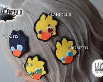 New Final Fantasy XV CHOCOBROS Hair clips