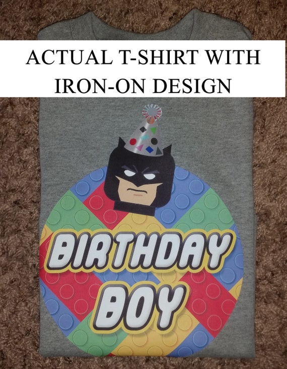 Iron On T Shirt Design Batman Birthday Boy Pdf Instant