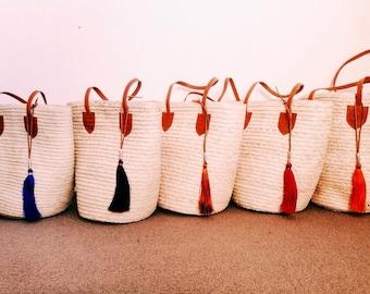 Market Basket, Beach Basket, Beach Bag, Market Bag, French Market Basket, Chic Basket, Leather Tassel, Market Tote, Woven Basket, Straw Bag