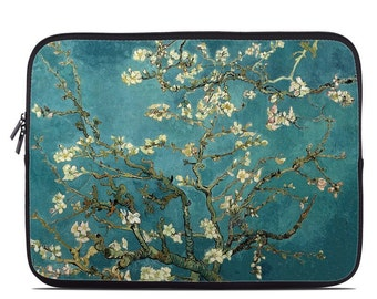 Laptop Sleeve Bag Case - Blossoming Almond Tree by Vincent van Gogh - Neoprene Padded - Fits MacBooks + More
