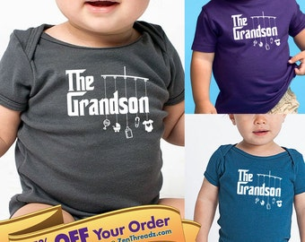 grandson shirt or onesie with mobile toys     great gift for grandson!