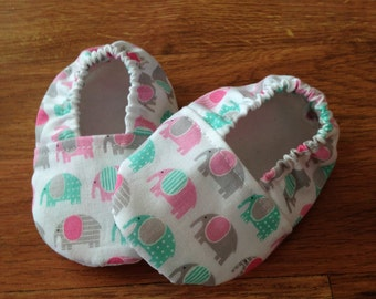 Baby Booties with Elephant Print