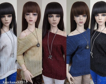Kawkana -  Butterfly Sweather, Braid Knit Tunic with Silver, Blouse for SD, SD16, Iplehouse SID 1/3 dollfie