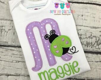 ladybug baby girl outfit - baby girl bodysuit one piece - Toddler ladybug Shirt - Personalized baby clothes
