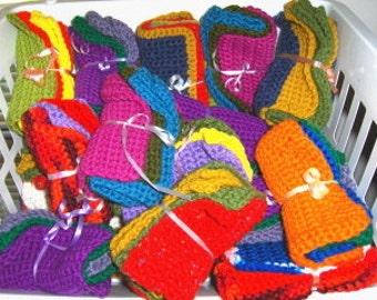 Crochet Dish Wash Cloths Handmade Lot Of Three